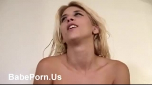 Big titted blonde woman is always horny and wants to ride a horny stranger's huge dick