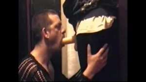 Interracial dude gets his face impaled on a ebony cock