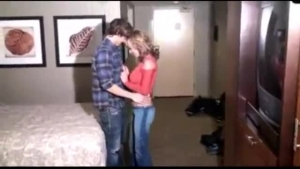 Blonde teen, Sierra Nicole went to a hotel room with a black guy she is in love with