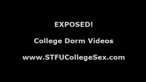 Lovely college babes sucking on dudes cock