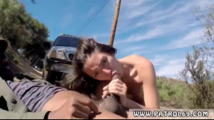 German brunette babe fucked by various pilies