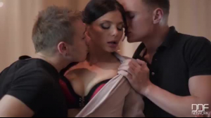 Horny step sisters, Lara Latex and Tina Kay are having a steamy threesome with a married guy